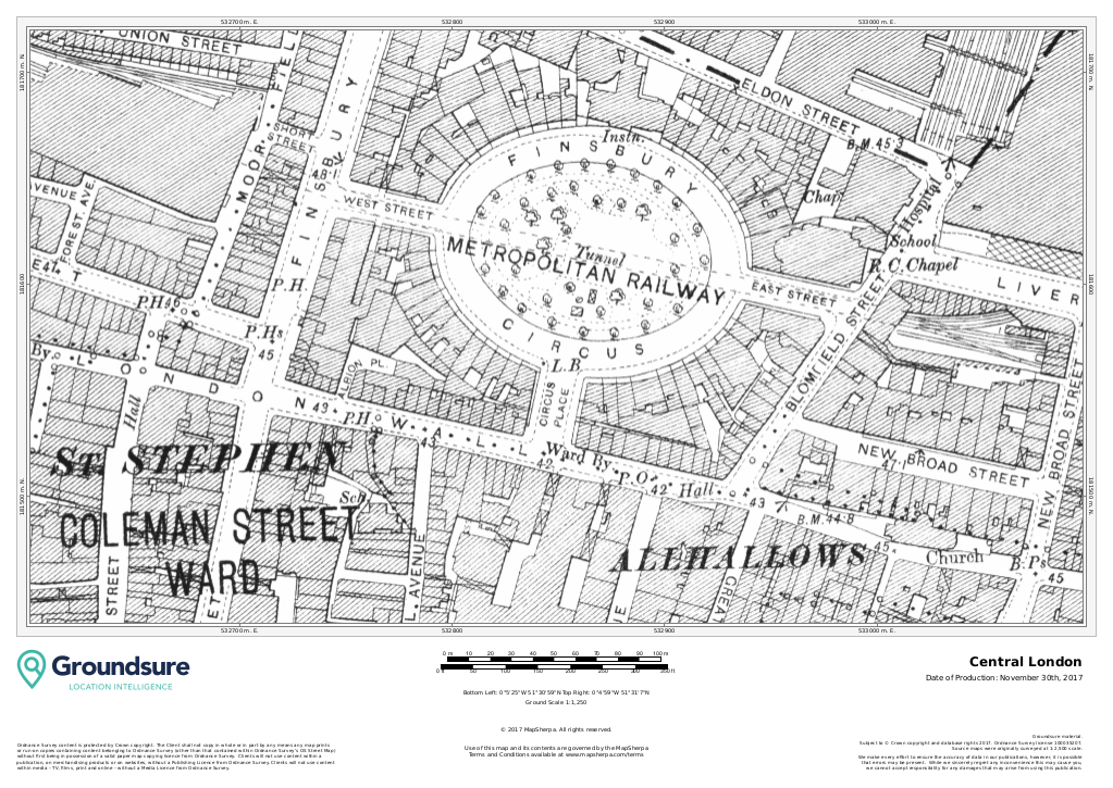Central London 1890-1900 1:1,250