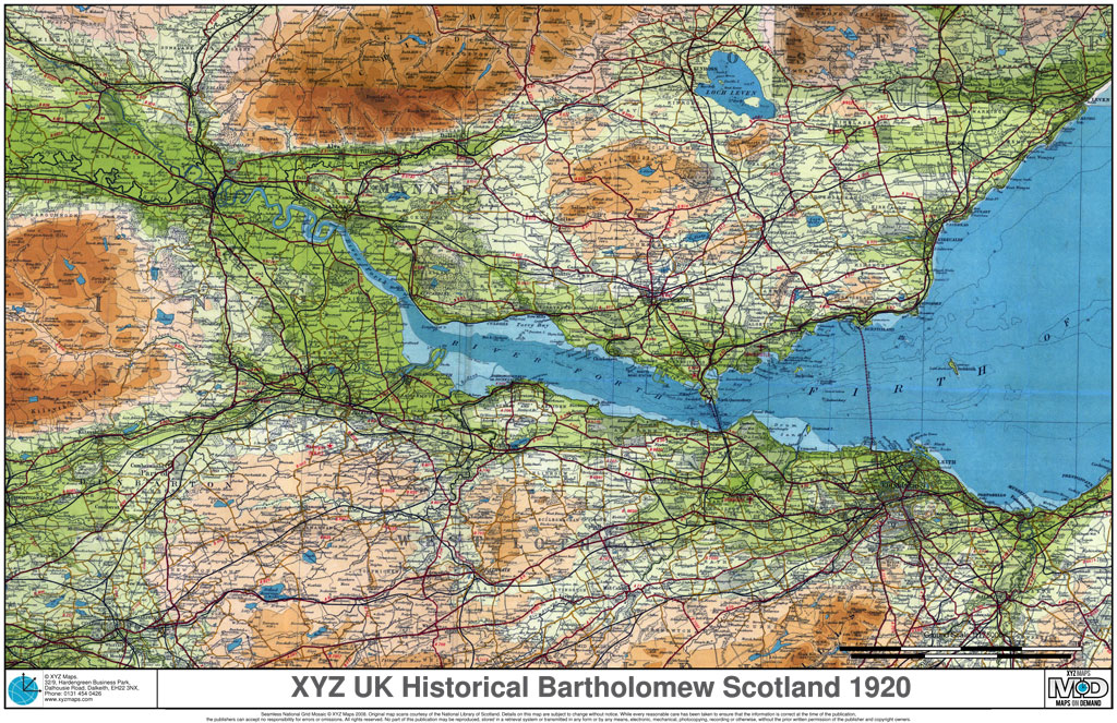 UK Historical Bartholomew Scotland 1920s