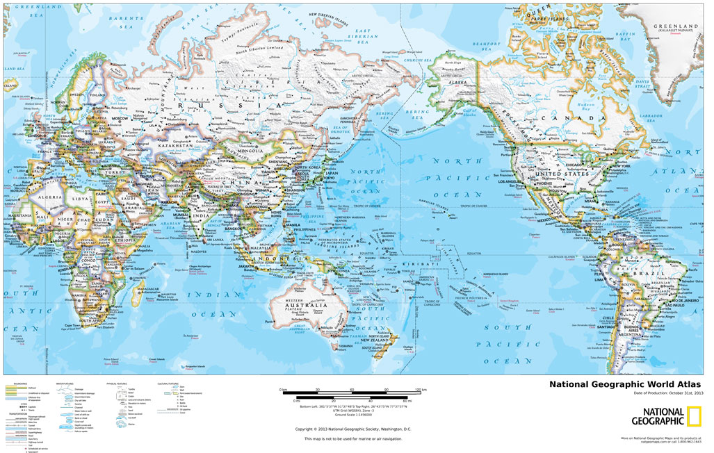 National Geographic World Political Map.Political Maps Decorative Maps On Demand