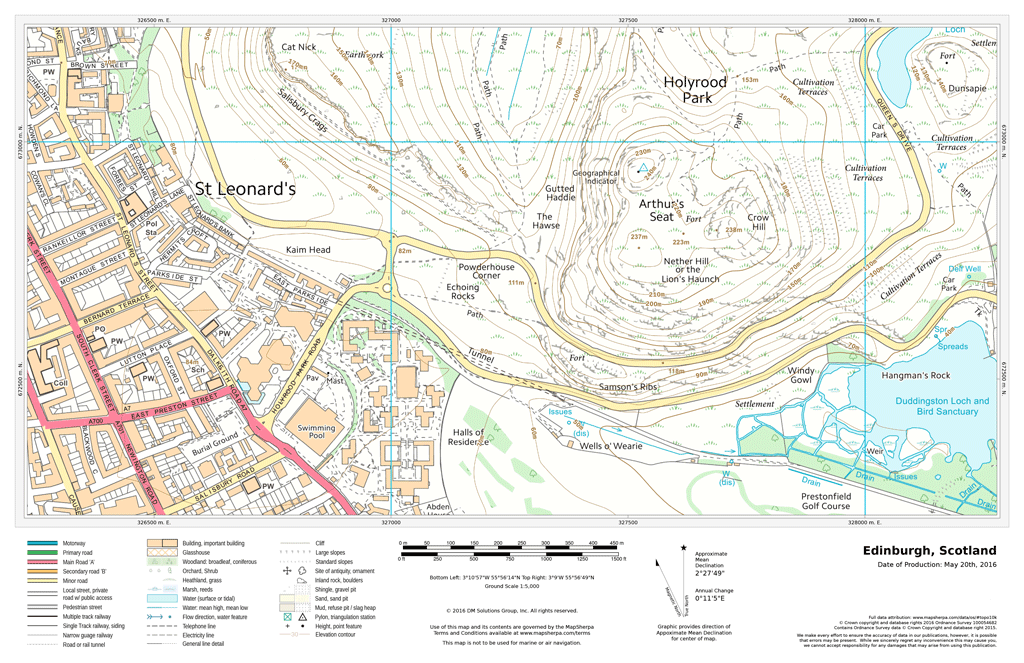 UK Detailed Topographic - Fixed Scale